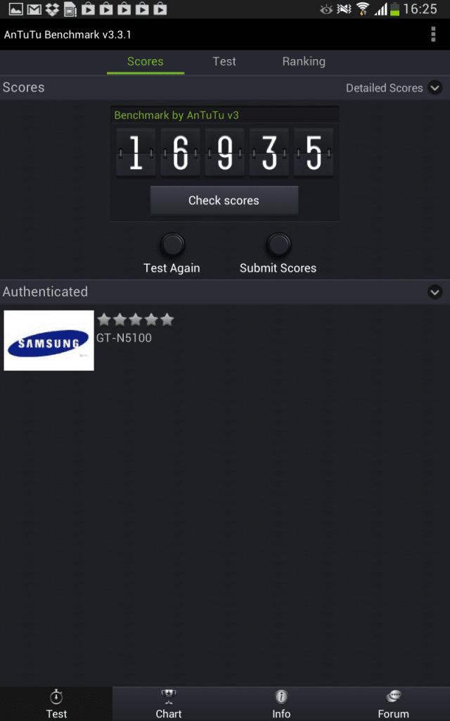Galaxy Note 8.0 AnTuTu