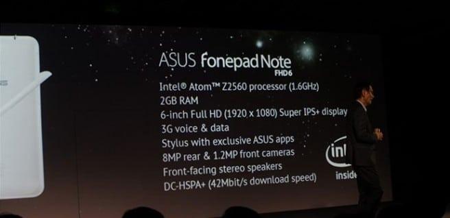 FonePad Note FHD 6 specs