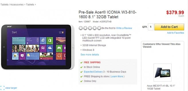 Iconia W3 venta