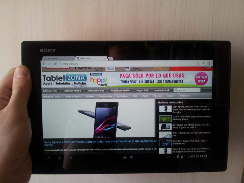 Xperia Tablet Z Analisis