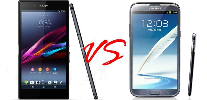 Xperia Z Ultra VS Galaxy Note II