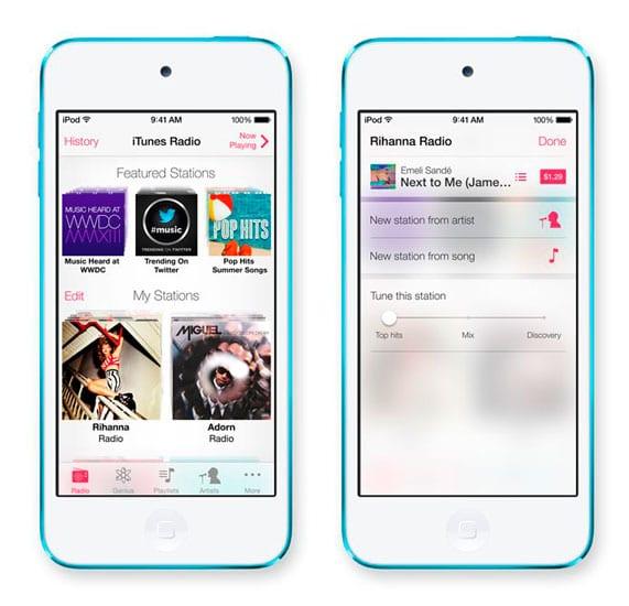 iOS7 iTunes Radio