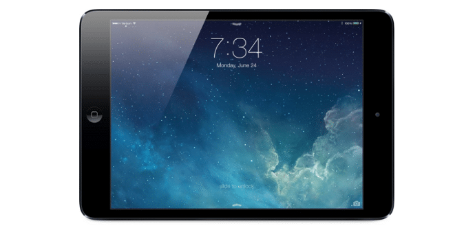 iPad mini iOS 7 gestos