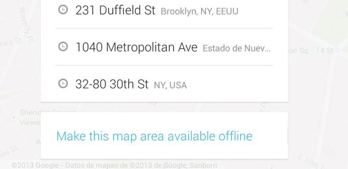 Google Maps Boton off line