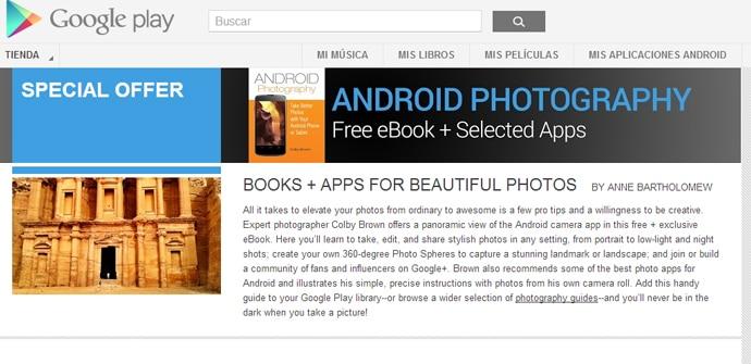 Libro y apps foto en Android