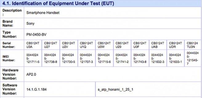 Sony Honami FCC