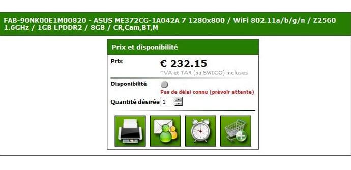 ASUS FonePad HD 7 listado