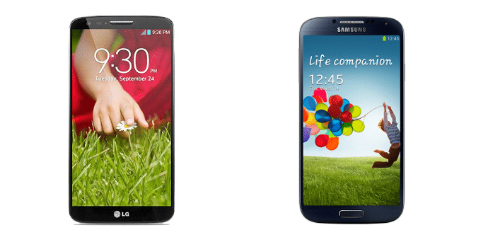 Comparativa LG Samsung