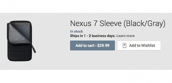 Funda acolchada Nexus 2013