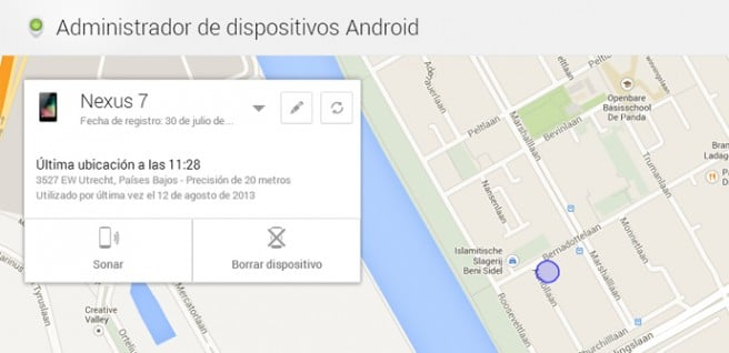Localizador de dispositivos