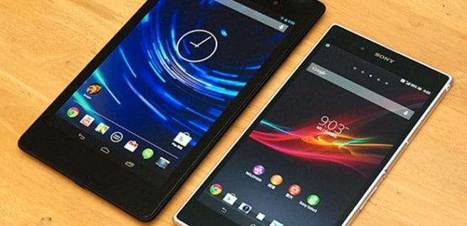 Nexus 7 Xperia Z Ultra comparativa