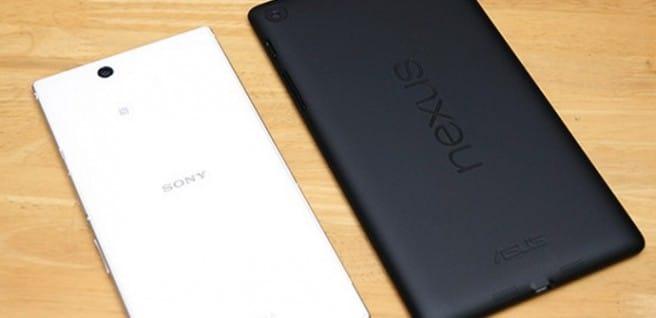 Nexus 7 Xperia Z Ultra trasera