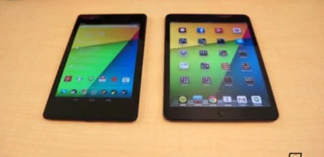 Nuevo Nexus 7 vs iPad mini pantalla