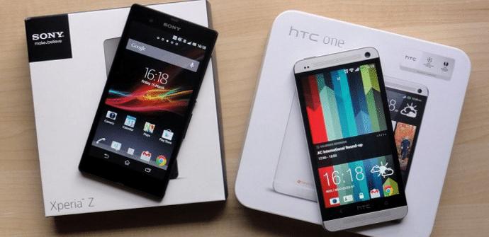 Xperia Z HTC One