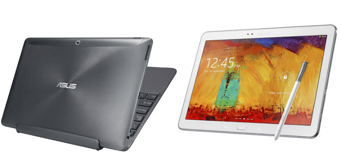 Asus Transformer vs Galaxy Note 10.1