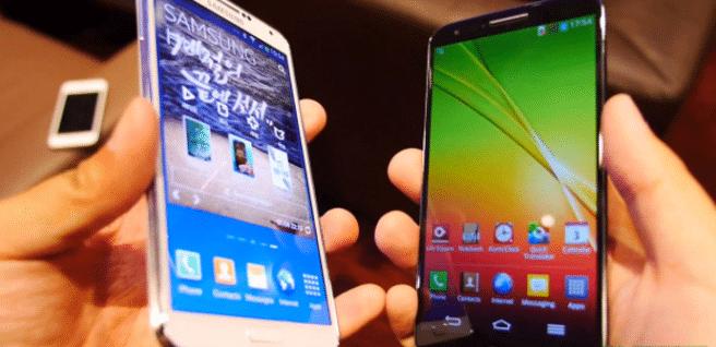 Galaxy Note 3 vs LG G2