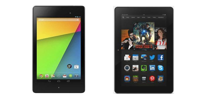 Nexus 7 vs Kindle Fire HDX