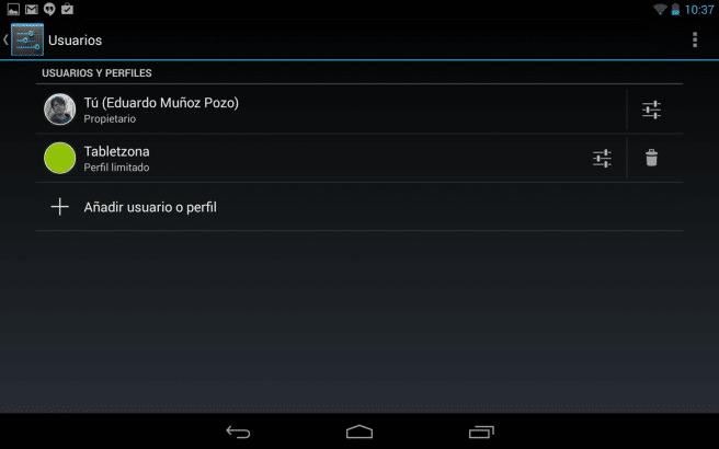 Nexus 7 (2013) perfil limitado
