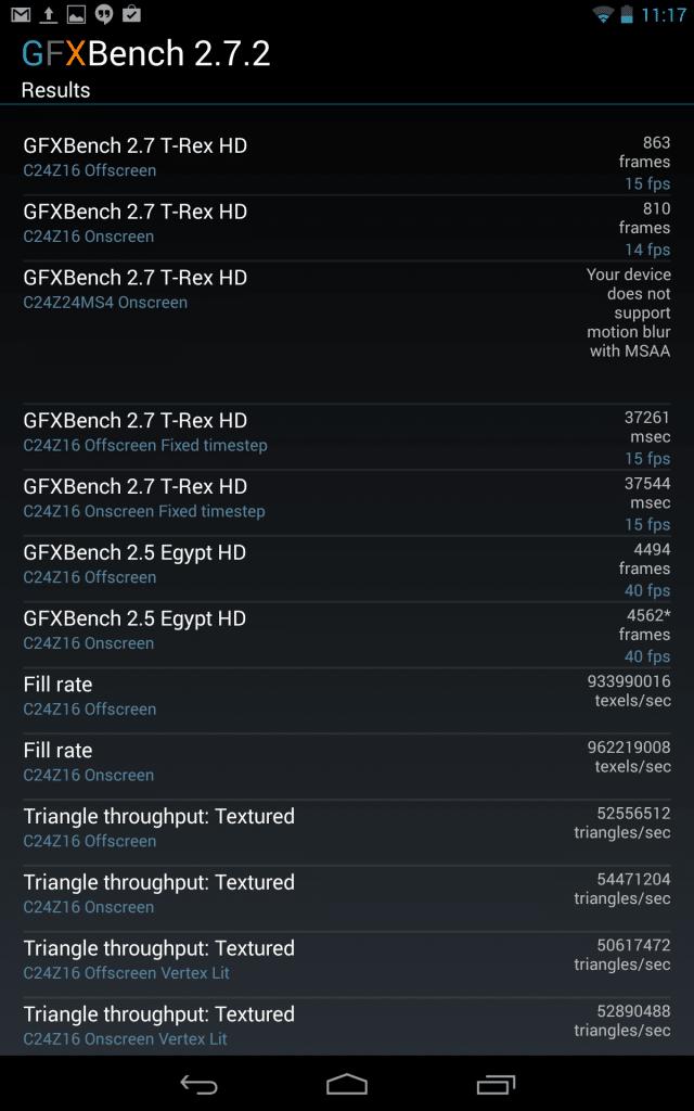 Nexus 7 (2013) GFXBench