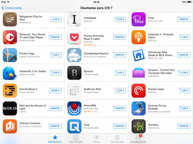 Apps para iOS 7