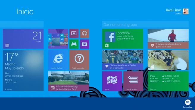 Surface 2 Editar escritorio