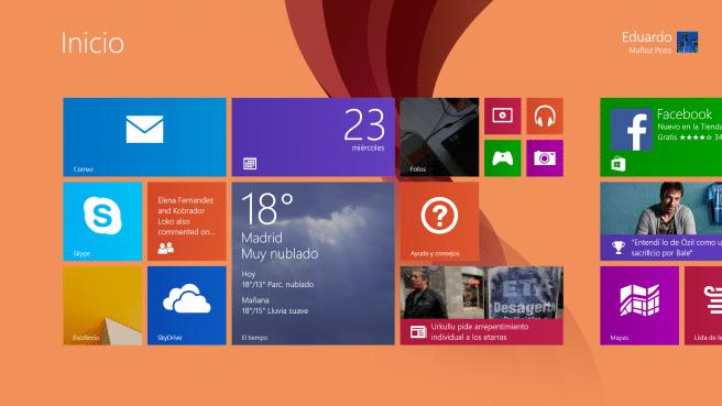 Surface Pro 2 interfaz