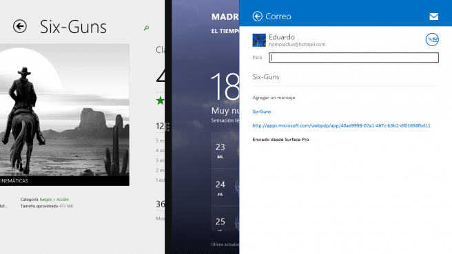 Surface Pro 2 multitarea