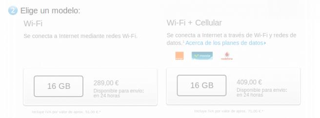 iPad mini no retina precios