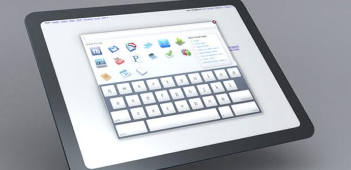 Chromes OS tablets teclado