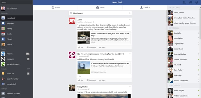 Facebook Windows 81