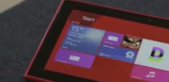 Lumia 2520 diseño