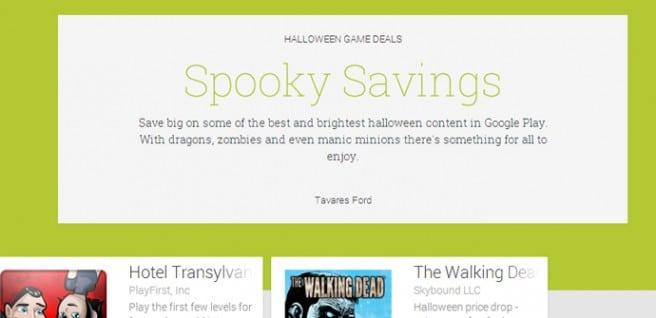 Oferta Halloween Google Play