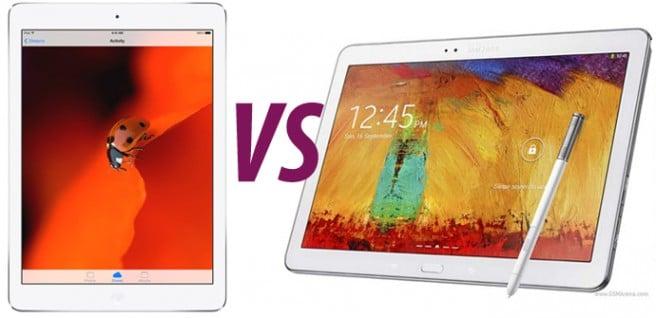 iPad Air VS Galaxy Note 101 2014