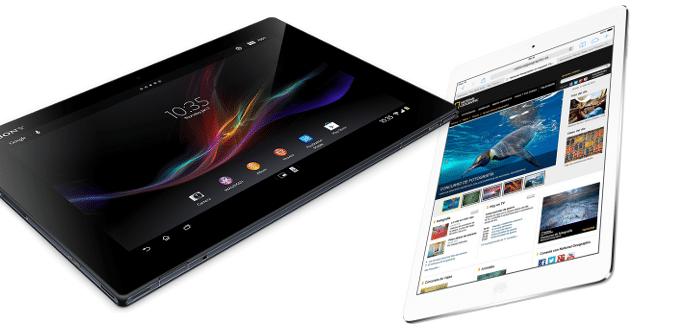 iPad Air vs Xperia Tablet Z