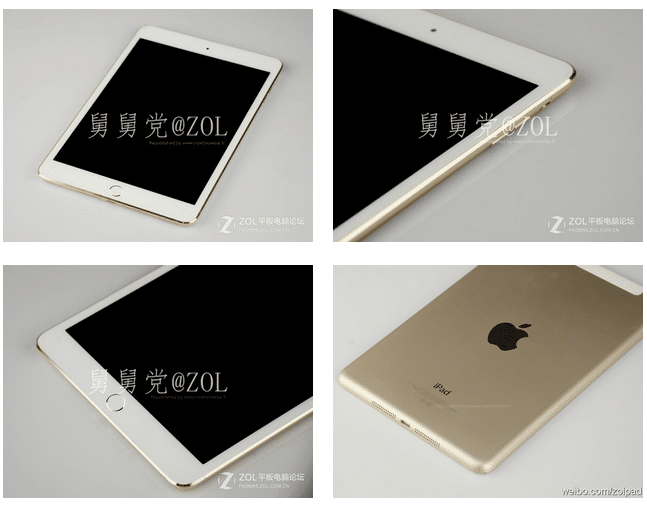 iPad mini 2 oro