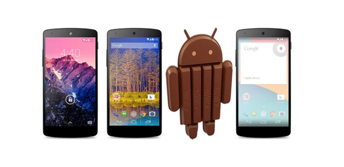 Android Kitkat en Nexus 5