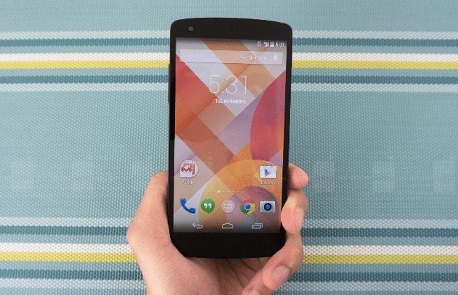 Android 4.4 inicio
