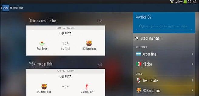 FIFA app equipos