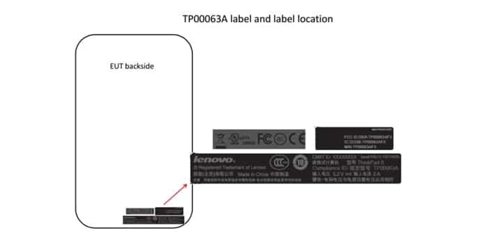 Lenovo ThinkPad 8 FCC
