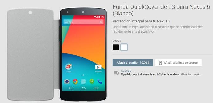 QuickCover Nexus 5