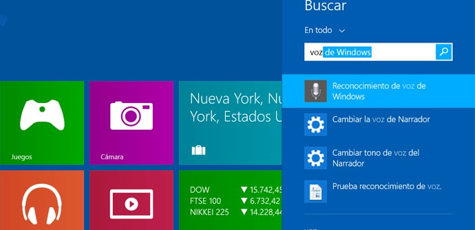 Reconocimiento de voz Windows