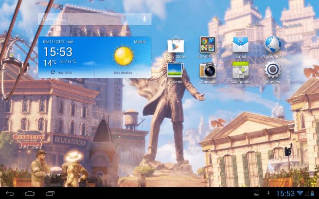 Huawei MediaPad 10 pantalla de inicio