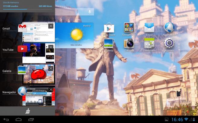 Huawei MediaPad 10 multitarea