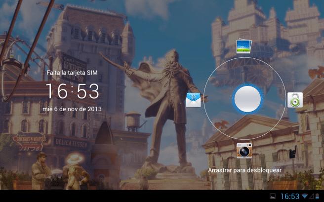 Huawei MediaPad 10 pantalla de desbloqueo