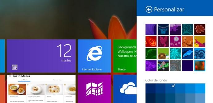 Tutorial fondo de inicio Windows 8
