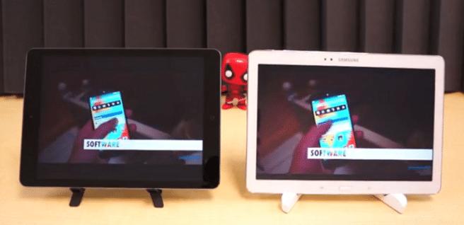 iPad Air vs Galaxy Note 10.1 2014 software