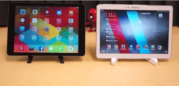 iPad Air vs Galaxy Note 2014 diseño