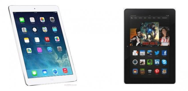iPad Air vs Kindle Fire HDX 8.9
