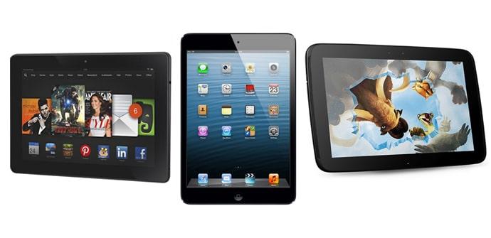 iPad Air vs Kindle Fire HDX 89 vs Nexus 10
