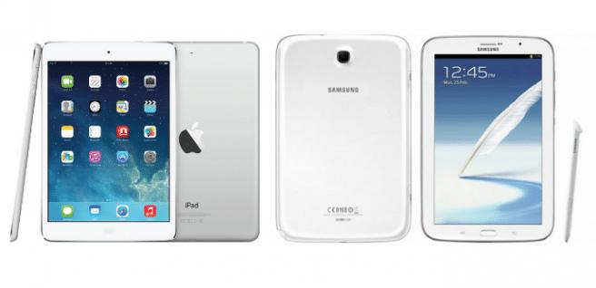 iPad mini Retina vs Galaxy Note 8.0